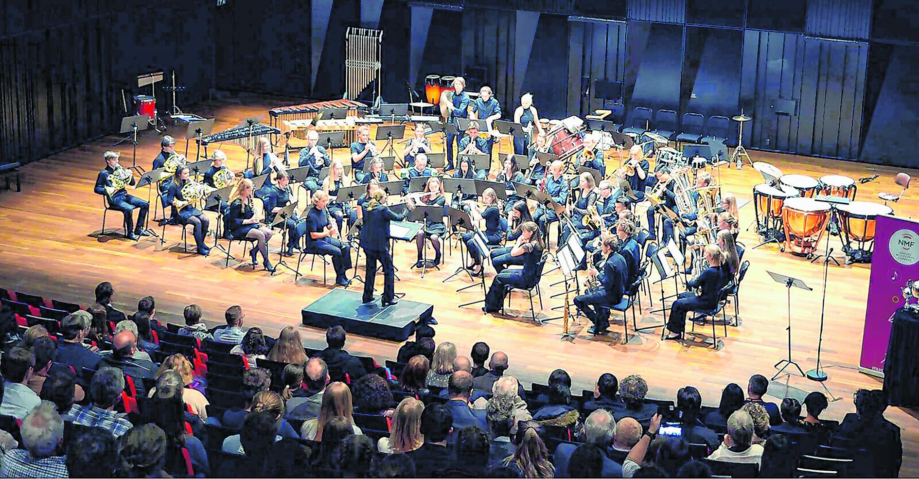 Norvég ifjúsági zenekar adott koncertet a Klauzál Házban
